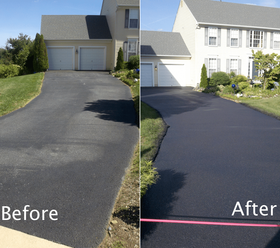 Sealcoating Before & After